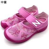 《7+1童鞋》中童 NEW BALANCE Y0208PNK   輕量  護趾涼鞋 9443  粉色