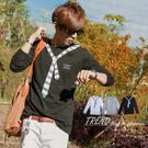 T恤‧柒零年代 Fall【N8116J】秋季視覺潮流黑白領帶圖騰設計長袖TEE(MA30056)