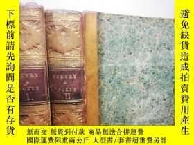 二手書博民逛書店1830年罕見POETRY AND POETS 2本合售 含少許