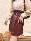 皮裙女夏新款ins超火的半身裙港味復古高腰包臀裙子秋 衣櫥秘密