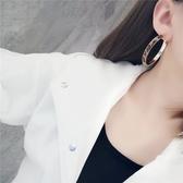 耳環 個性 豹紋 金屬 圓環 誇張 時尚 氣質 耳環【DD1810193】 icoca  01/24