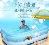 加厚兒童游泳池家用寶寶嬰幼兒家庭充氣泳池超大號小孩洗澡戲水桶 st3881『美鞋公社』