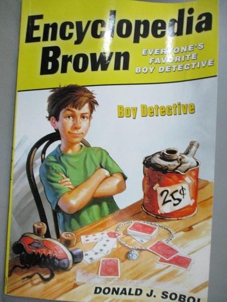 【書寶二手書T8/原文小說_BKM】Encyclopedia Brown, Boy Detective_Sobol, Donald J./ Shortall, Leonard W. (ILT)