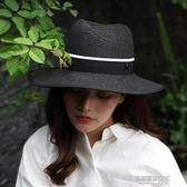 太陽帽女夏韓版時尚沙灘帽子海邊出游遮陽防曬英倫禮帽巴拿馬草帽  凱斯盾數位3C