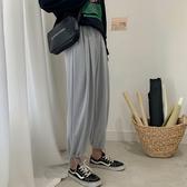 哈倫褲 夏季新款港風薄款休閒長褲男潮流垂感寬鬆闊腿哈倫褲學生束腳褲潮