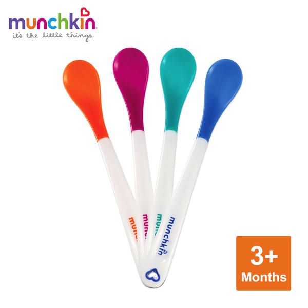 munchkin滿趣健-感溫安全湯匙4入