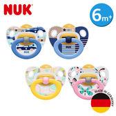 德國NUK-印花乳膠安撫奶嘴-一般型6m+2入(顏色隨機出貨)