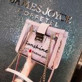 小包包女潮字母透明果凍包正韓錬條單肩斜背包 英賽爾3C數碼店