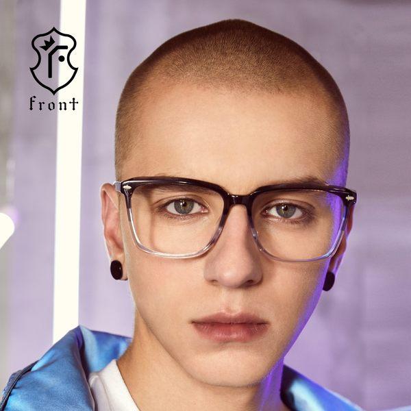 【Front 光學眼鏡】G2901-三色可挑選(#潮流方框款光學眼鏡)