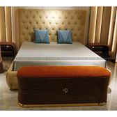 [紅蘋果傢俱] CT-044後現代臥室系列 床架 床頭櫃 床尾凳 梳妝桌椅 歐式 高檔 簡約 不銹鋼輕奢