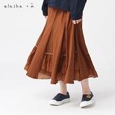 a la sha+a 層次透紗拼接澎澎裙