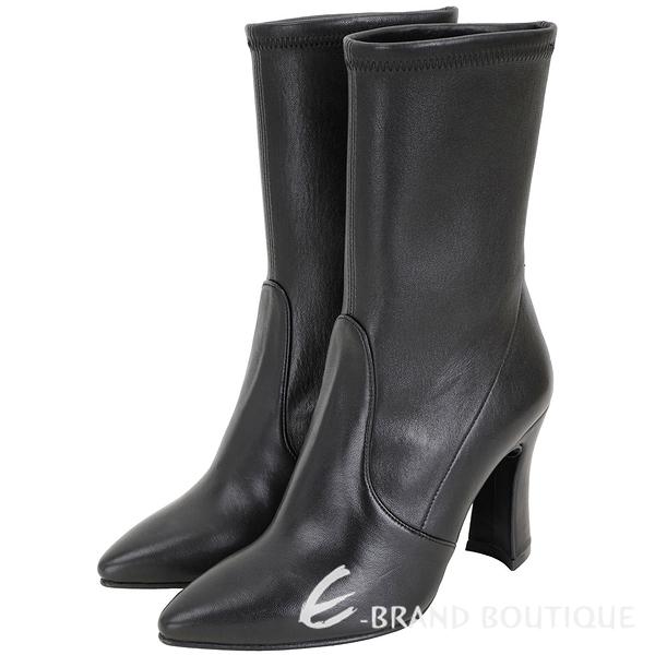 Stuart Weitzman CLINGERSWOOP 尖頭皮革短靴(黑色) 1920097-01