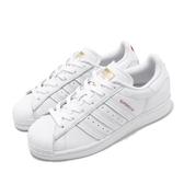 adidas 休閒鞋 V-DAY Superstar 白 紅 情人節 金標 愛心 小白鞋 女鞋 運動鞋【PUMP306】 FX1203