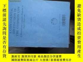 二手書博民逛書店b0043a罕見coninental distinction i