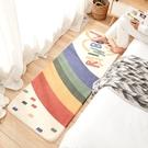 客廳地毯 簡約羊羔絨臥室床邊滿鋪長條地毯家用客廳茶几毯兒童房榻榻米地墊【快速】