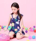 兒童泳衣女孩寶寶可愛連體游泳衣中大童公主女童韓國裙式防曬泳裝 挪威森林