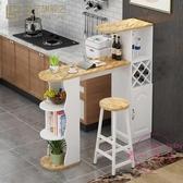 歐式隔斷柜靠墻吧台桌家用小簡約現代創意餐邊柜客廳廚房餐廳酒柜 【快速出貨】
