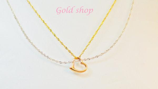 ╭☆ gold shop ☆╯義大利 585 白黃K金 項鍊+墜 16吋 [ kn 075 ]-0.57