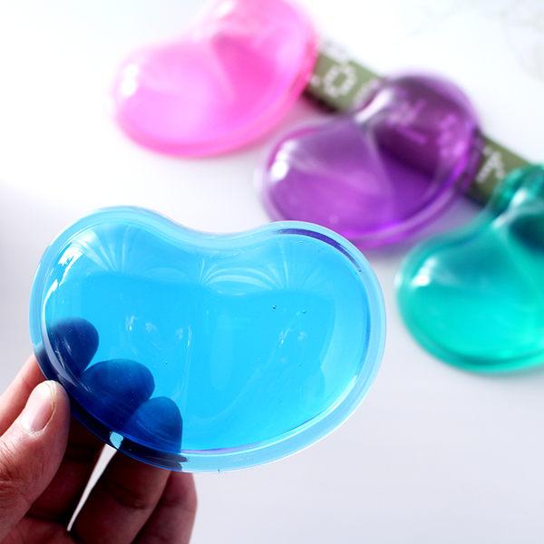 創意心形透明可愛硅膠滑鼠墊腕墊手枕水晶護腕托 手腕墊鼠