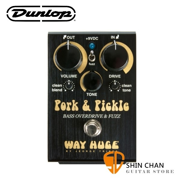 Dunlop WHE214 貝斯 Overdrive/Fuzz 破音效果器【Way Huge/Pork Pickle】