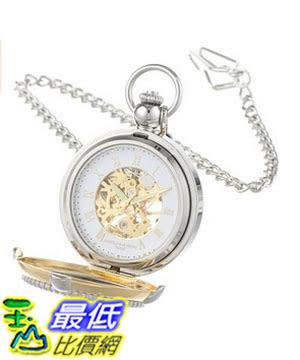 [美國直購] 手錶 Charles Hubert 3846 Two-Tone Mechanical Picture Frame Pocket Watch