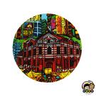 【收藏天地】台灣紀念品*神奇的陶瓷吸水杯墊-西門紅樓∕馬克杯 送禮 文創 風景 觀光  禮品