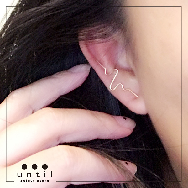 心動指數~設計款兩用耳夾耳環710611/單只3色
