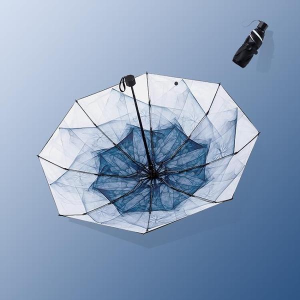 雨傘女晴雨兩用黑膠防曬
