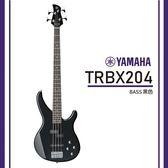 【非凡樂器】YAMAHA TRBX204 / 電貝斯套組/公司貨保固/黑色