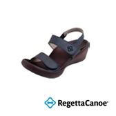 RegettaCanoe 女款 日本原裝 足弓支撐 健康涼鞋 魔鬼沾 經典黑 0035