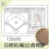 【耀偉】白板貼含背膠-輸出120x90(需自行提共檔案)-貼紙/白板貼/白板貼紙