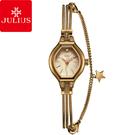 JULIUS 聚利時 燦爛星辰唯美鍊式腕錶-古銅金/18mm【JA-1057E】