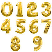阿拉伯數字派對布置造型16吋鋁箔氣球(無充氣) 生日派對 節日慶典 會場布置 店面布置 派對布置