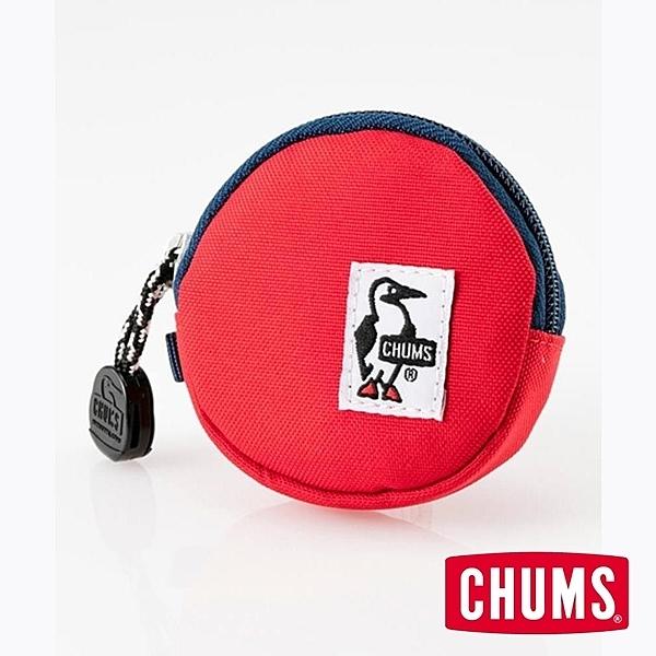 CHUMS Eco Round Coin Case 收納包 紅 CH600854R001【GO WILD】