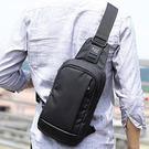 斜背防水胸包 簡約男側背小包《印象精品》y660