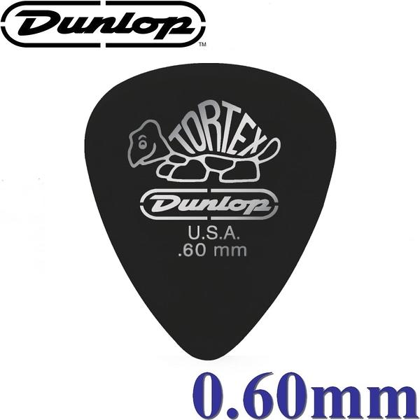 【非凡樂器】Dunlop Tortex® Pitch Black Pick 小烏龜燙銀彈片 / 吉他彈片【0.60mm】