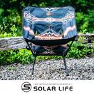 OWL CAMP 民俗圖騰椅(黑) SF-1958-標準椅.戰術椅月亮椅 休閒靠背椅 折疊椅旋轉支架 月亮椅骨架