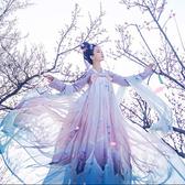 漢服改良齊胸襦裙自在飛花步蟾宮唐制清新日常古裝演出服仙女裝夏