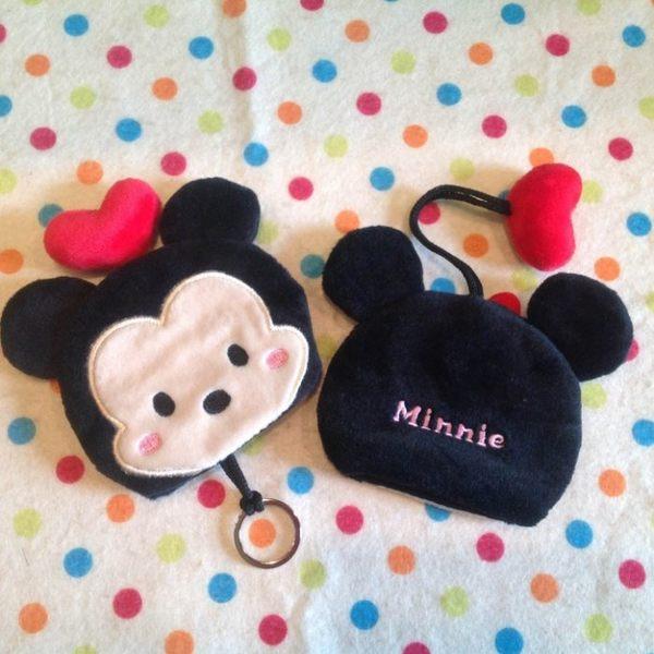 【發現。好貨】迪士尼tsum tsum 疊疊樂米奇 米妮鑰匙包 鑰匙套 鑰匙圈 收納袋 收納包