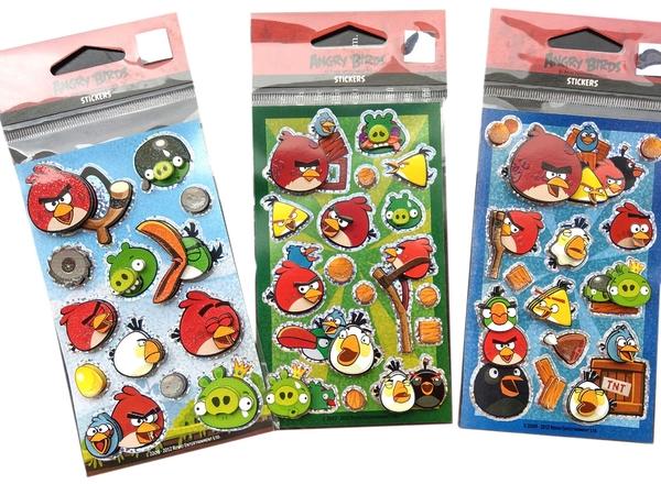 【卡漫城】 憤怒鳥 貼紙 立體 三張一組 A組 ㊣版 Angry birds 綠豬 衝刺鳥 炸彈鳥 紅鳥 藍鳥 黃鳥