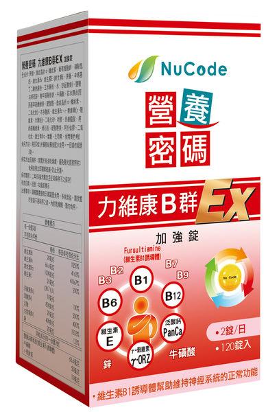 營養密碼力維康B群EX 120錠 *維康