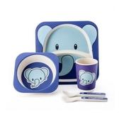 尼奇大象二隔盤餐具五件組