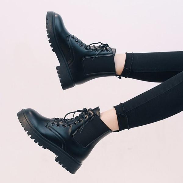 馬丁靴款-帥氣百搭厚底 韓版軍靴 時尚流行 英倫風短靴 中筒靴【AN SHOP】