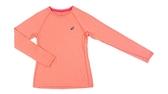 [陽光樂活]ASICS亞瑟士 服飾 / 上衣 / 女慢跑長袖T恤 135361-6028 粉橘
