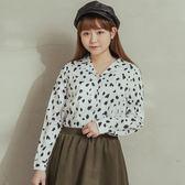 Poly Lulu 滿版豹紋印花翻領襯衫-白【91040086】