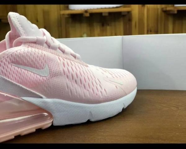 正品 耐吉Nike air270系列 櫻花粉 粉紅色 半掌氣墊鞋 慢跑鞋 運動鞋/澤米