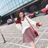 復古小香風毛衣兩件套裝裙時尚【大小姐韓風館】