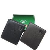 ~雪黛屋~SANDIA-POLO 短夾專櫃男仕短夾100%進口牛皮革標準尺寸附品牌禮盒BSD12W0340560