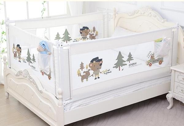 床圍欄寶寶防摔防護欄嬰兒童垂直升降