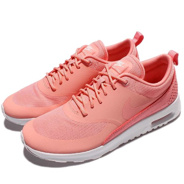 premium selection 01c38 8ac97 Nike Wmns Air Max Thea 粉紅白氣墊運動休閒輕量網布透氣